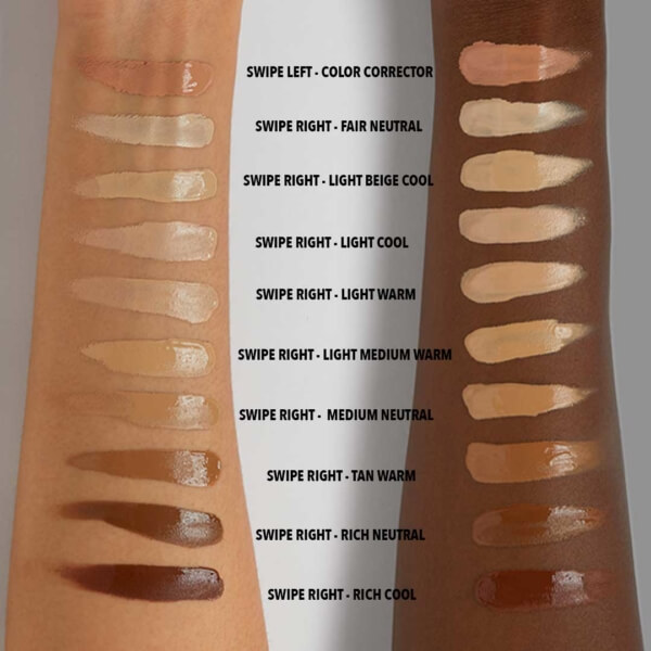 Arm Swatches Dark Tones